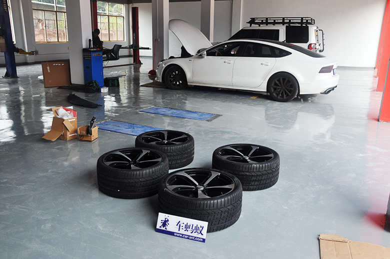 奥迪A7包围改装-深圳奥迪A7改装16款RS7包围与21寸轮毂