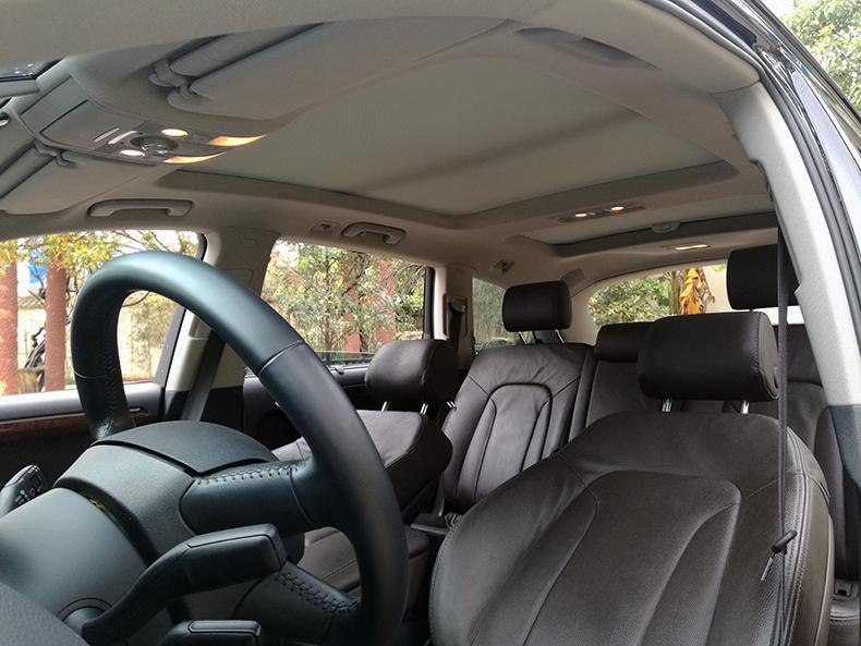 奥迪q7改装黑红色个性真皮座椅内饰车蚂蚁汽车改装
