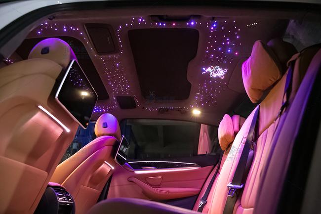 宝马5系是进口_宝马新5系G38改装升级星空顶顶棚,手机APP智能控制系统车蚂蚁 ...