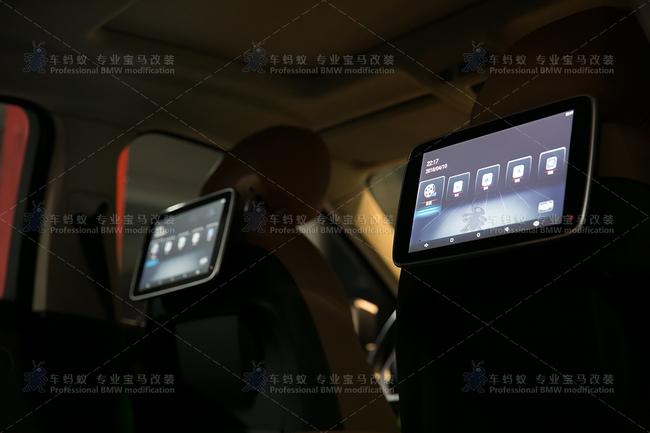 宝马x6改装内饰氛围灯加装后排娱乐头枕屏
