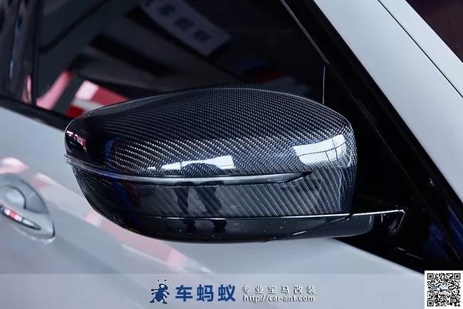 18款宝马5系改装碳纤维后视镜壳(深圳宝马车友会)