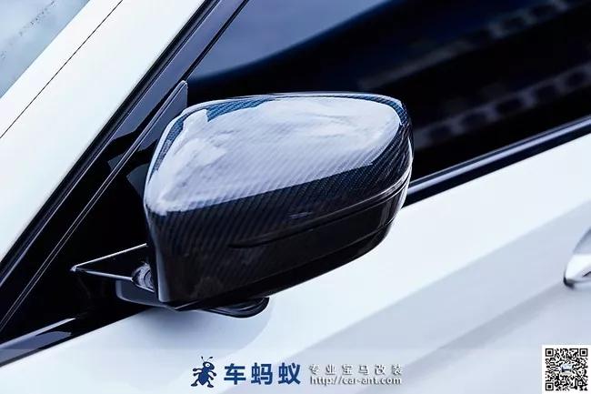 18款宝马5系改装升级m performance款碳纤维后视镜壳